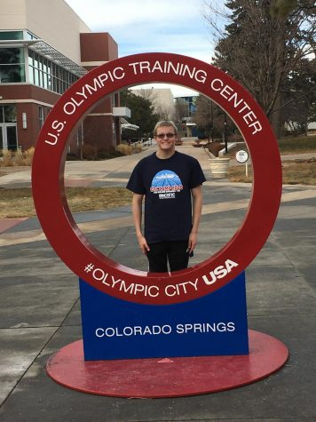 Pilfer spent some time at an olympic training center to further his training for swimming, which he wants to continue into the future.